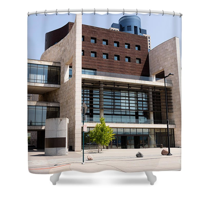 2012 Shower Curtain featuring the photograph Cincinnati National Underground Railroad Freedom Center by Paul Velgos