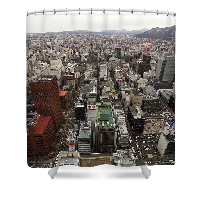 Hokkaido Shower Curtain featuring the photograph Cityscape Of Sapporo, Hokkaido, Japan by Tetsuya Aoki