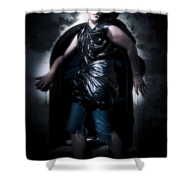 Rubbish Bin Shower Curtains