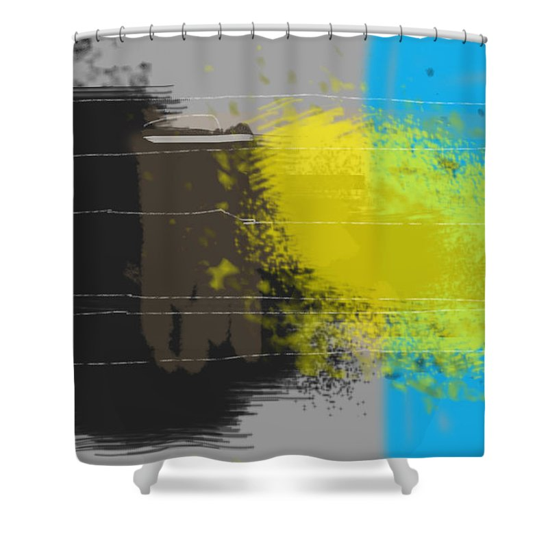 Digital Shower Curtain featuring the digital art Cold by Haze Westerlund