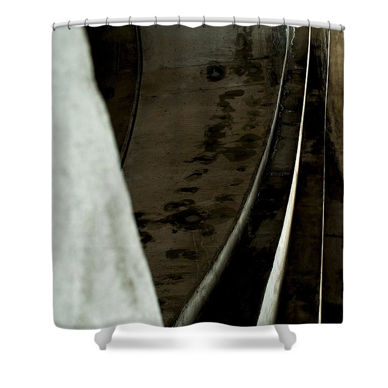 Abstract Shower Curtain featuring the photograph Curves by Fran Riley