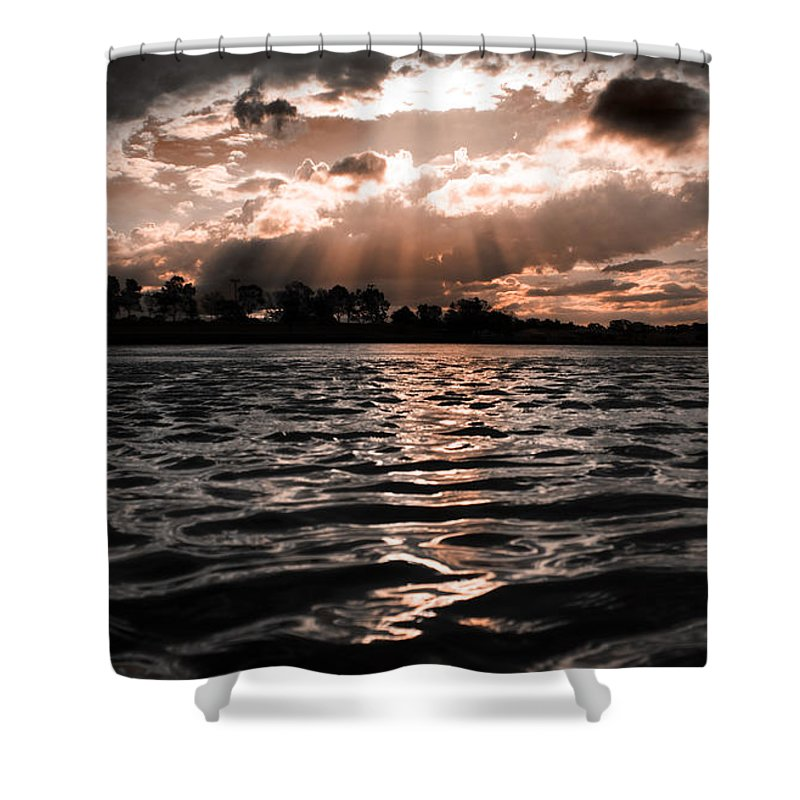 Atmospheric Shower Curtain featuring the photograph Dark Tranquility by Jorgo Photography - Wall Art Gallery