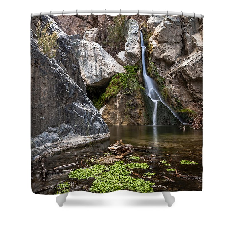 Water Shower Curtain featuring the photograph Darwin Falls by Cat Connor