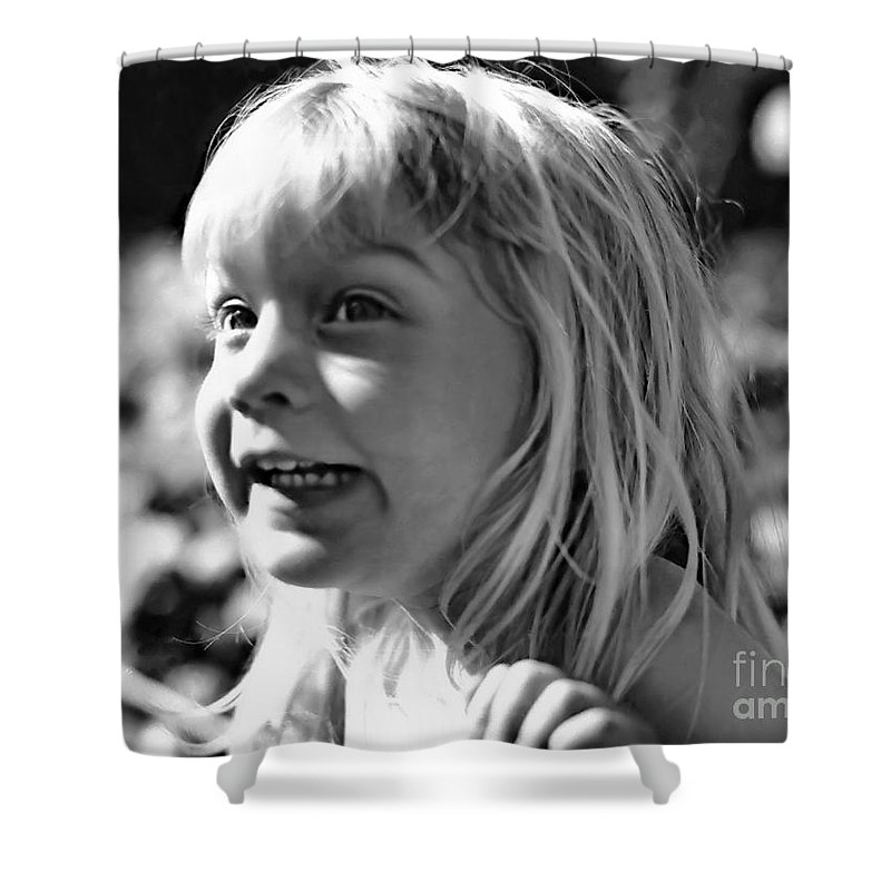 Portrait Shower Curtain featuring the photograph Delight by Rory Sagner