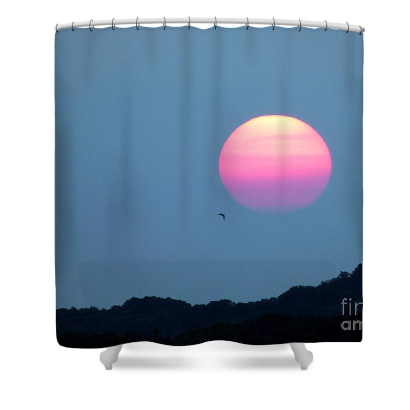 Landscape Shower Curtain featuring the photograph Delta Lake Sunset by Rennae Christman