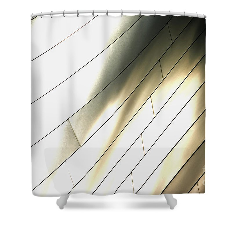 Disney Concert Hall Shower Curtain featuring the photograph Disney Concert Hall 13 by Micah May