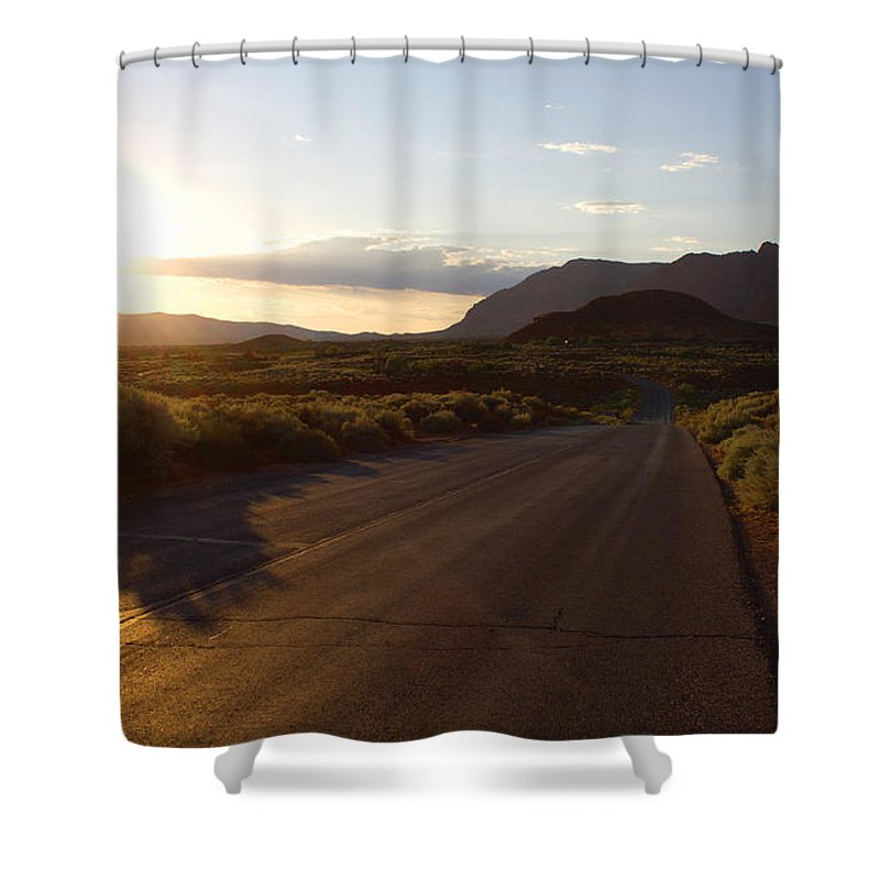 Photo Shower Curtain featuring the photograph Doesn't Matter Where It Goes by Kim Marshall