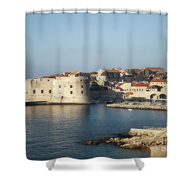 Adriatic Shower Curtain featuring the photograph Dubrovnik In Croatia by Jacek Malipan