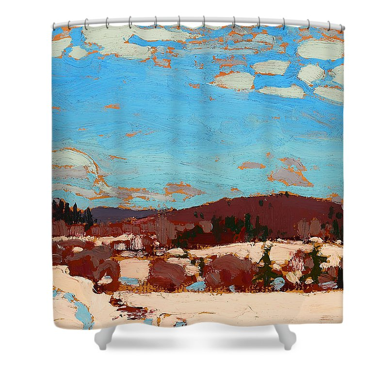 Painting Shower Curtain featuring the painting Early Spring by Mountain Dreams