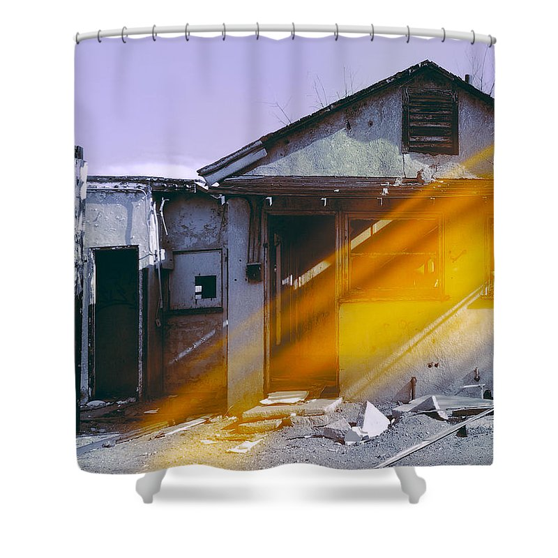 Old House Shower Curtain featuring the photograph Expedition by Dominic Piperata