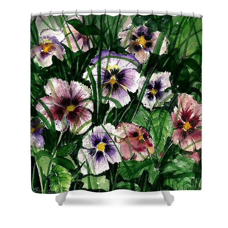 Flowers Shower Curtain featuring the painting Flower Study I by Steven Schultz