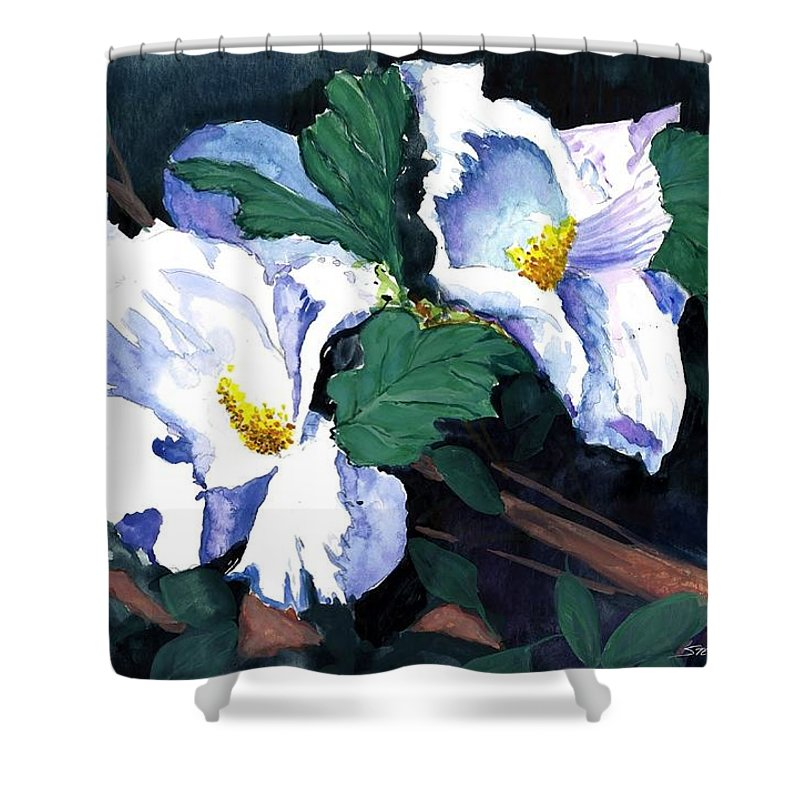 Flowers Shower Curtain featuring the painting Flower Study II by Steven Schultz
