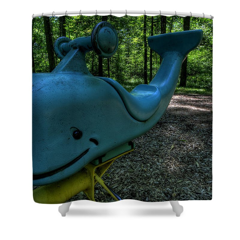 Whale Shower Curtain featuring the photograph Forgotten Playground by David Dufresne