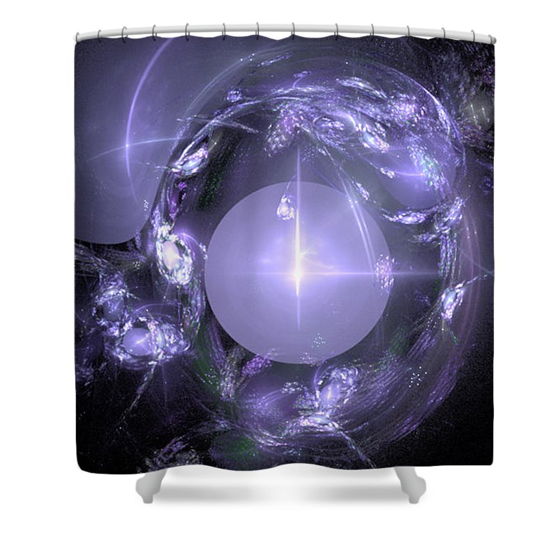 Fractal 067 Shower Curtain featuring the digital art Fractal 067 by Taylor Webb