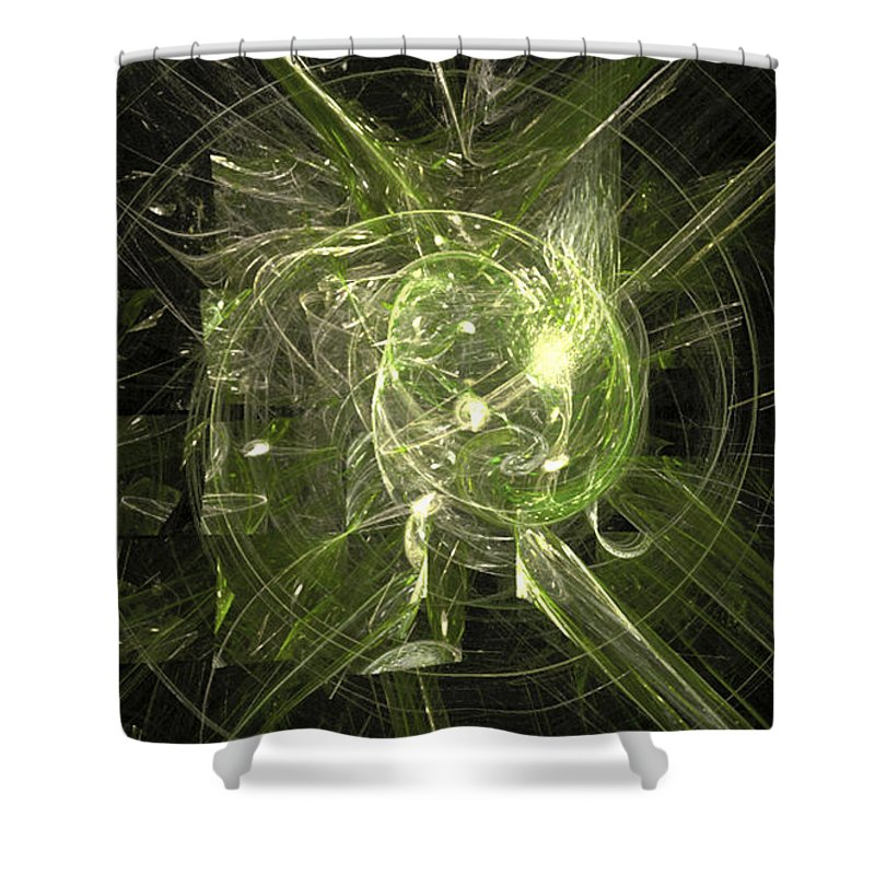 Fractal 068 Shower Curtain featuring the digital art Fractal 068 by Taylor Webb