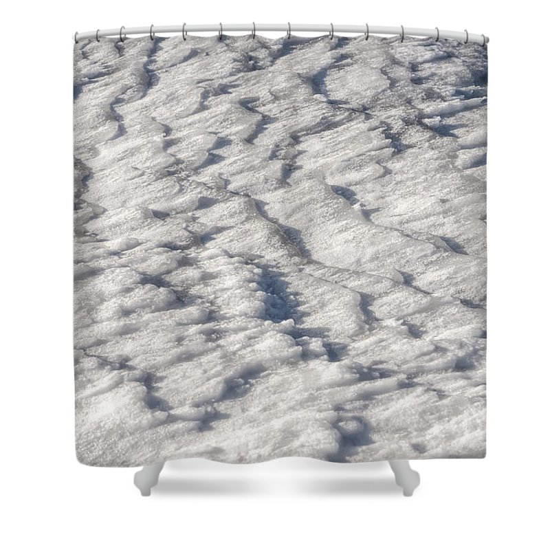 Dnieper Shower Curtain featuring the photograph Frozen River by Alain De Maximy