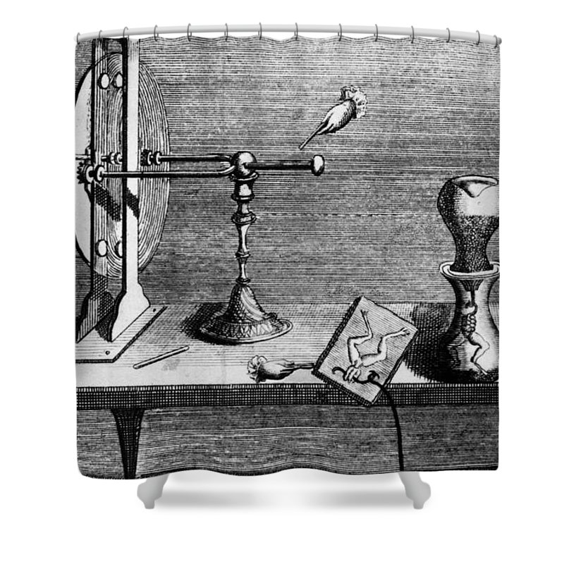 18th Century Shower Curtain featuring the photograph Galvani: Galvanism by Granger
