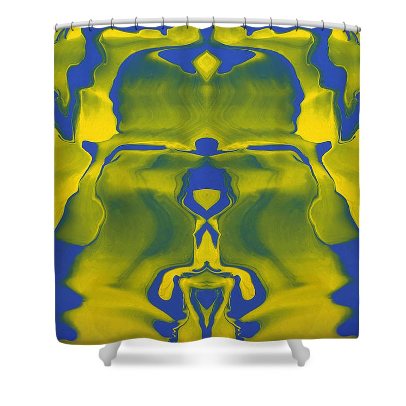 Original Shower Curtain featuring the painting Generations 5 by J D Owen