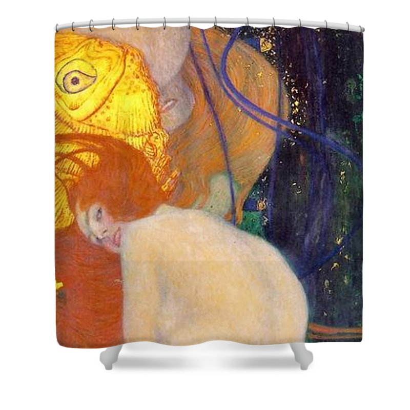 Gustav Klimt Shower Curtain Featuring The Painting Goldfish By