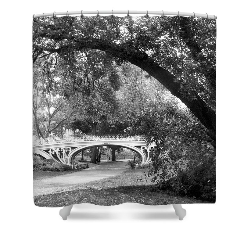 Gothic Shower Curtain featuring the photograph Gothic Bridge by Jessica Jenney