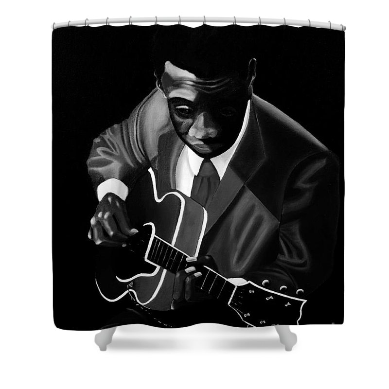 Grant Green Shower Curtain featuring the painting Grant Green by Barbara McMahon