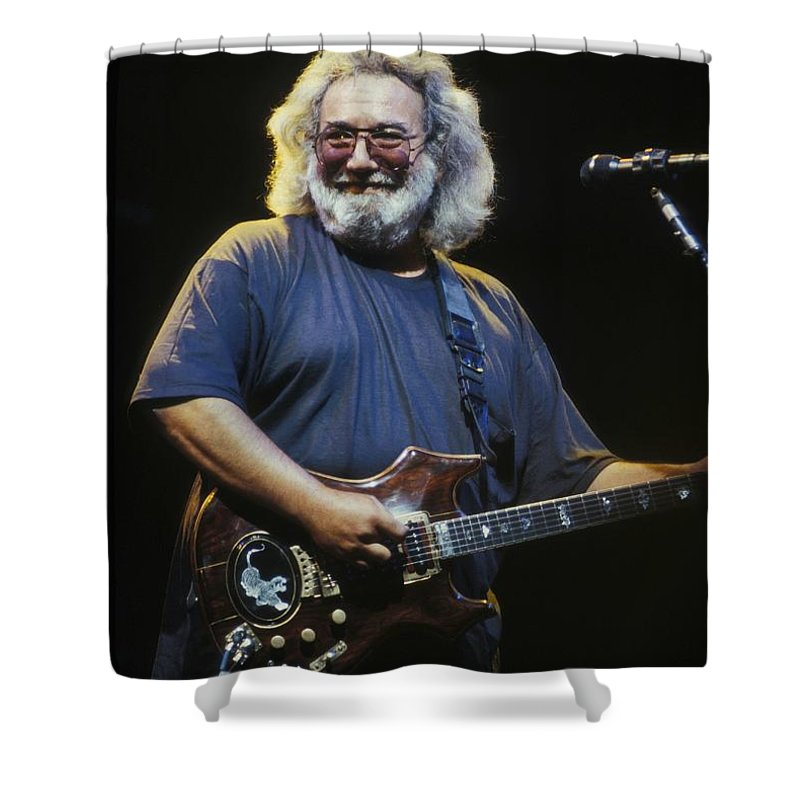 Singer Shower Curtain featuring the photograph Grateful Dead - Uncle Jerry by Concert Photos
