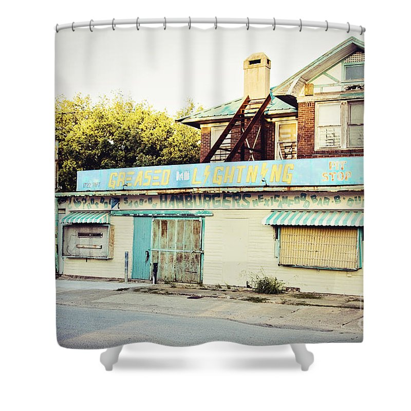 Greased Lightning Shower Curtain featuring the photograph Greased Lightning by Scott Pellegrin
