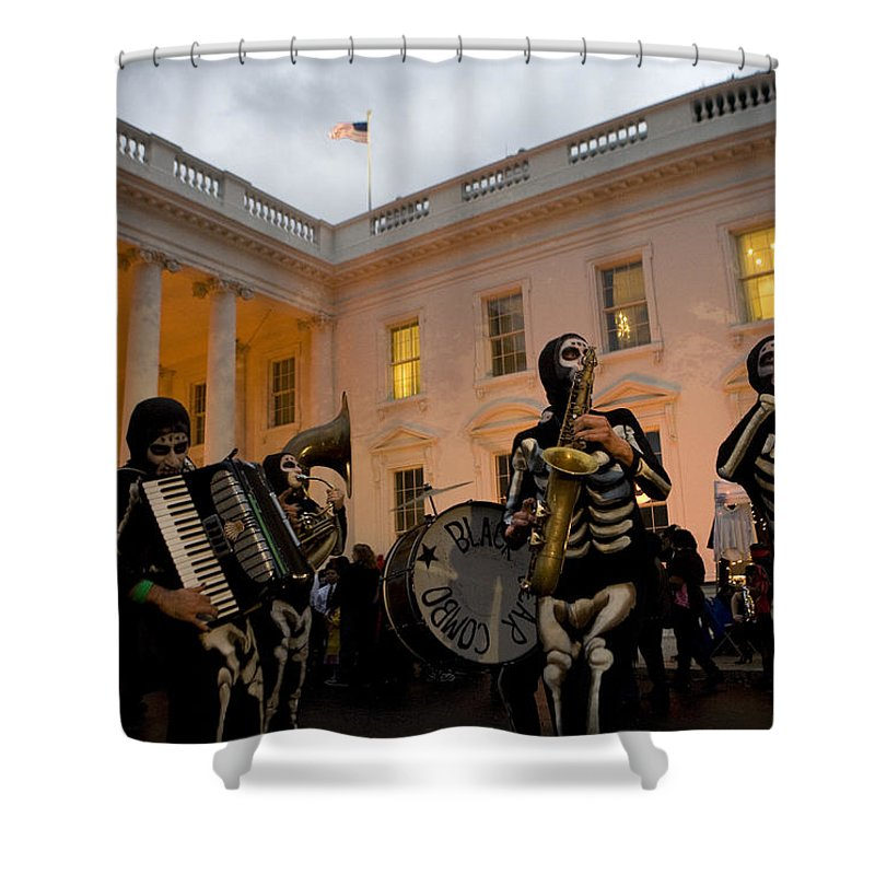 Allhallows Eve Shower Curtain featuring the photograph Halloween At The White House by JP Tripp