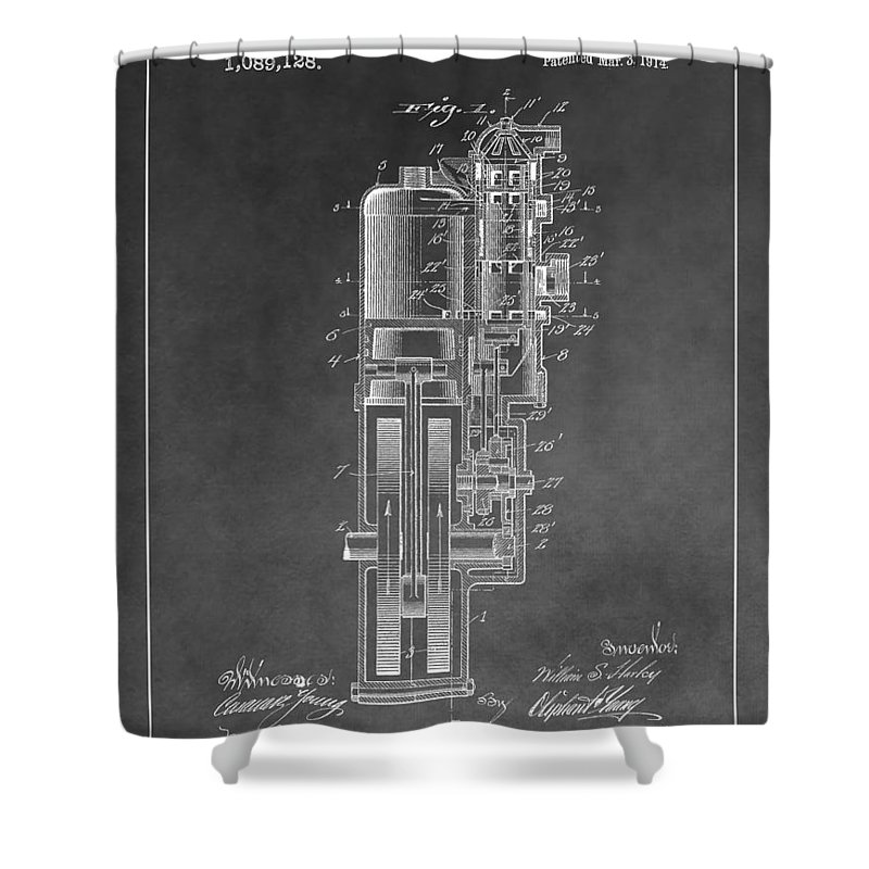 Harley Davidson Engine Patent Shower Curtain For Sale By Dan Sproul