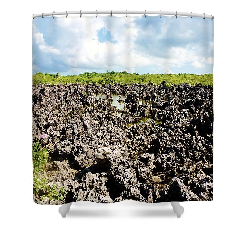 Color Shower Curtain featuring the photograph Hell by Amar Sheow