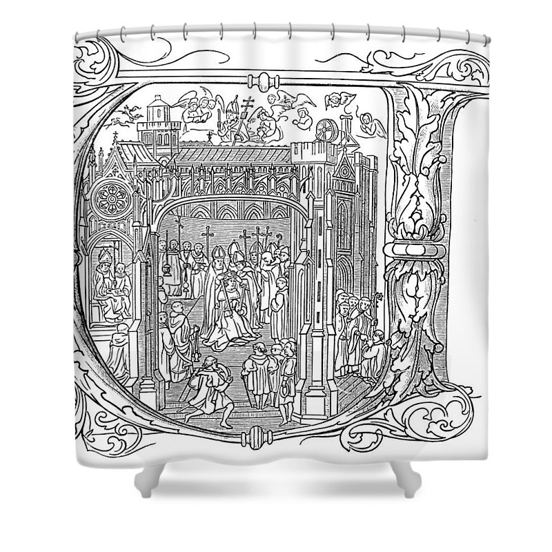 1509 Shower Curtain featuring the painting Henry Viii (1491-1547) by Granger