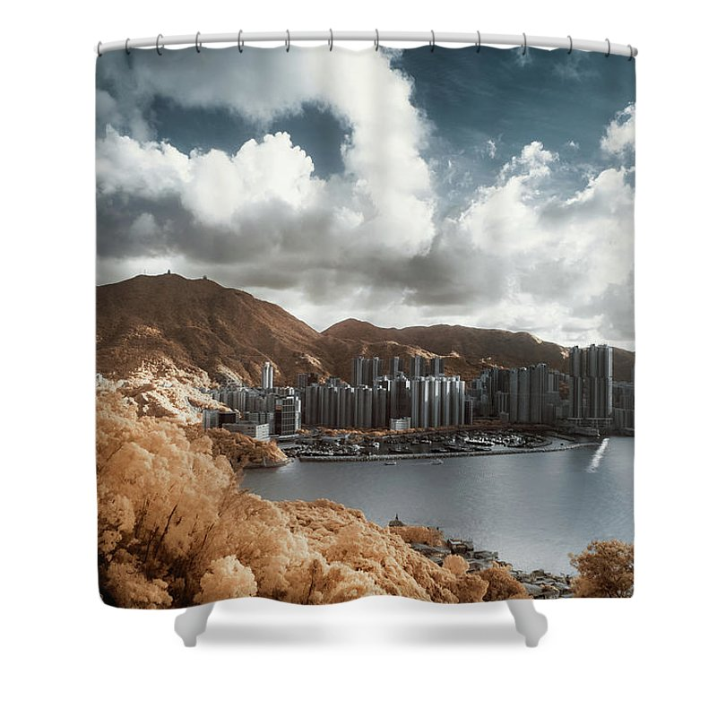 Tranquility Shower Curtain featuring the photograph Hong Kong by D3sign