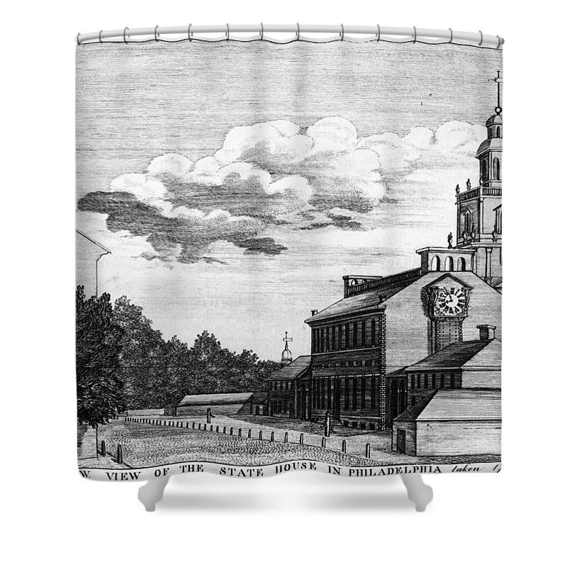 1778 Shower Curtain featuring the photograph Independence Hall, 1778 by Granger