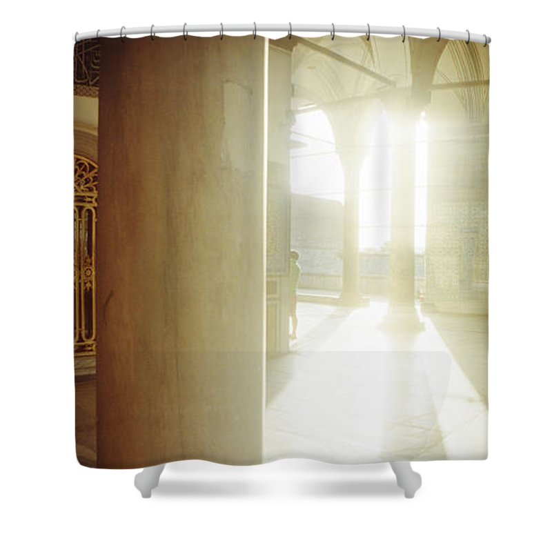 Photography Shower Curtain featuring the photograph Interiors Of Topkapi Palace by Panoramic Images