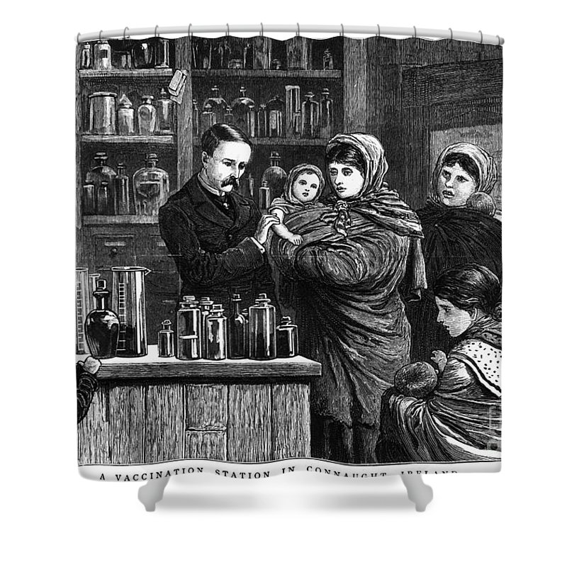 1880 Shower Curtain featuring the photograph Ireland: Vaccination, 1880 by Granger