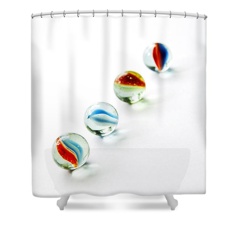 Abstract Shower Curtain featuring the photograph Isolated Marbles by Tim Hester