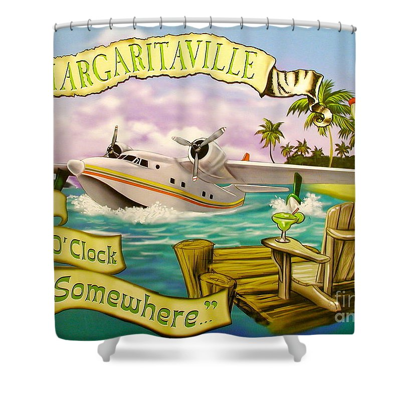 Jimmy Buffett Shower Curtain featuring the photograph It's 5 O'clock Somewhere by Desiderata Gallery