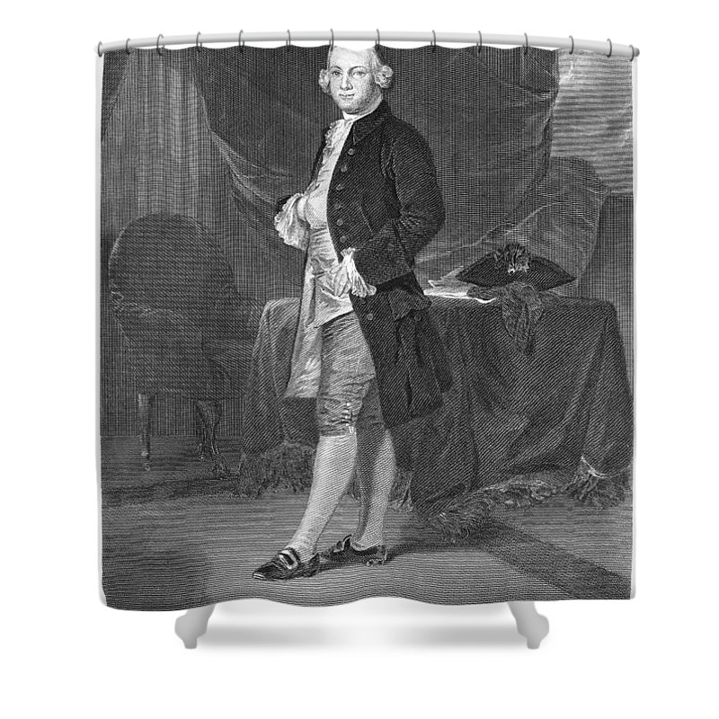 18th Century Shower Curtain featuring the photograph James Otis (1725-1783) by Granger