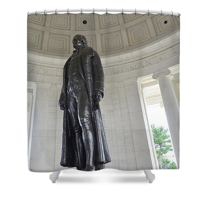 Jefferson Shower Curtain featuring the photograph Jefferson Memorial # 6 by Allen Beatty