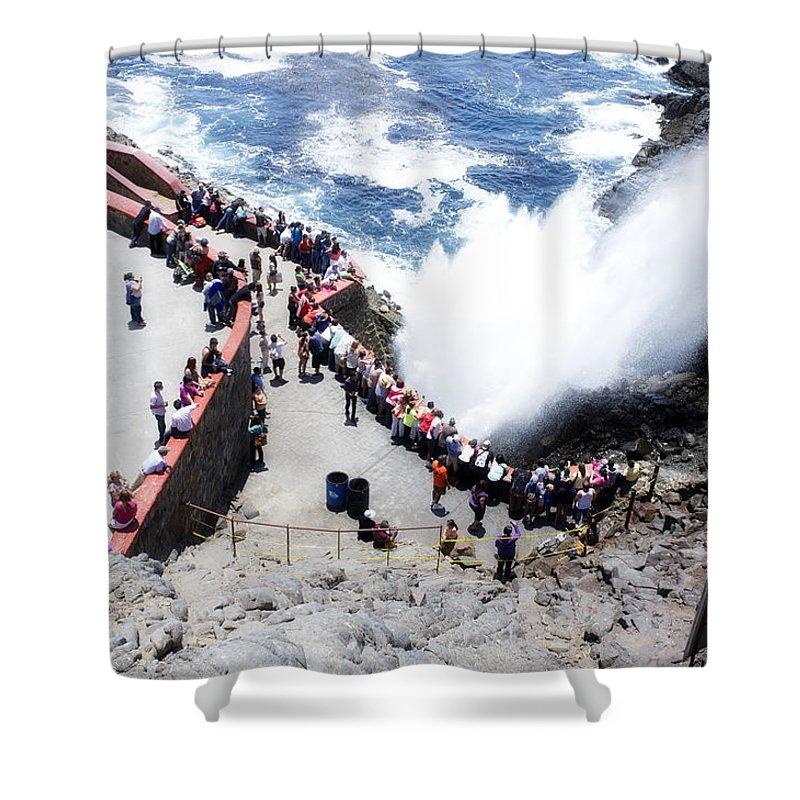 La_bufadora Shower Curtain featuring the photograph La Bufadora by Hugh Smith