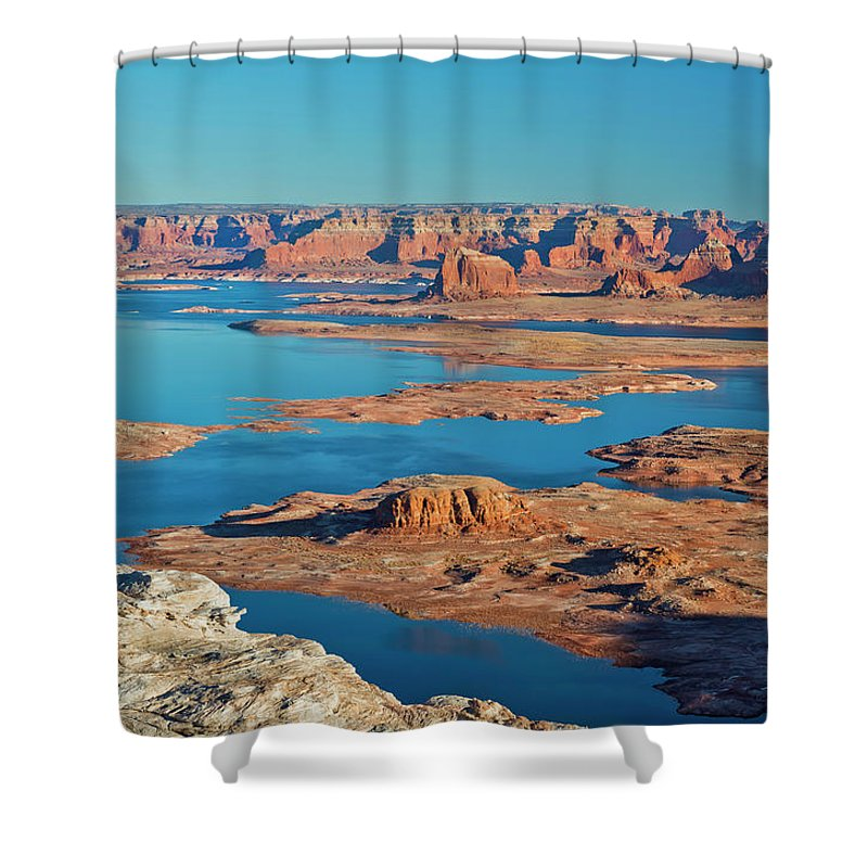 Tranquility Shower Curtain featuring the photograph Lake Powell by Chen Su