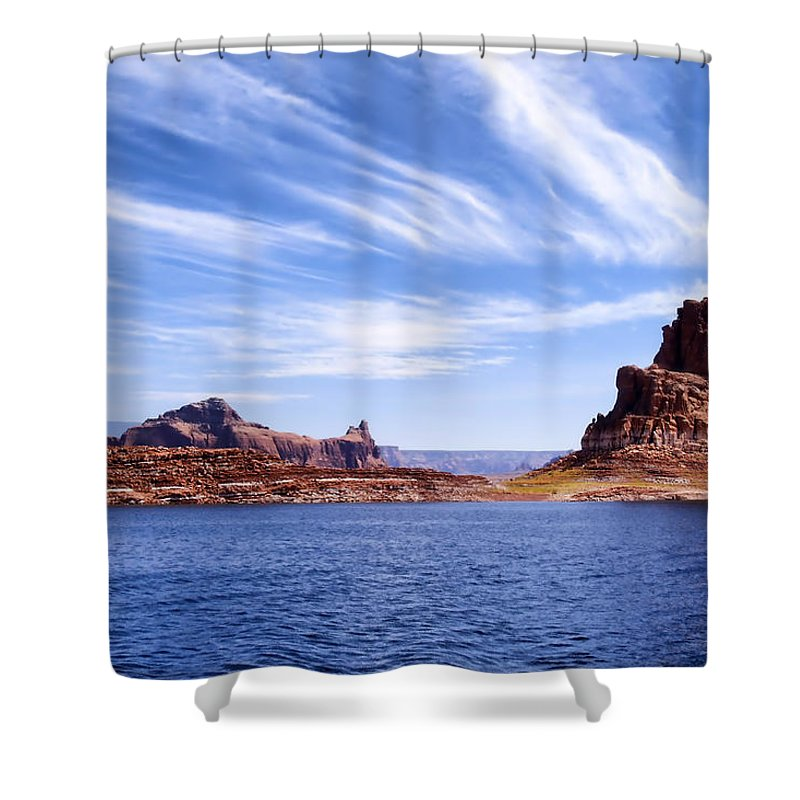 Lake Powell Shower Curtain featuring the photograph Lake Powell by Mountain Dreams