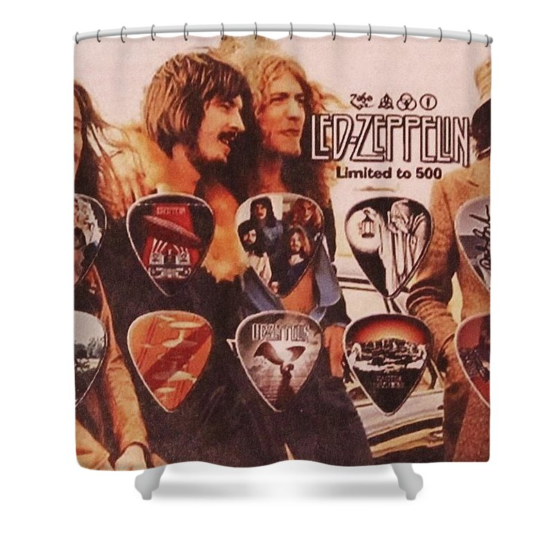 Led Zeppelin Shower Curtain featuring the photograph Led Zeppelin Art by Donna Wilson