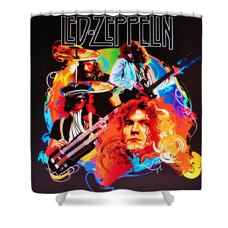 Led Zeppelin Art Shower Curtain For Sale By Donna Wilson