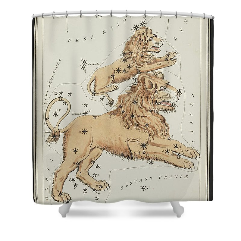 Science Shower Curtain Featuring The Photograph Leo Major And Minor Constellations By Source