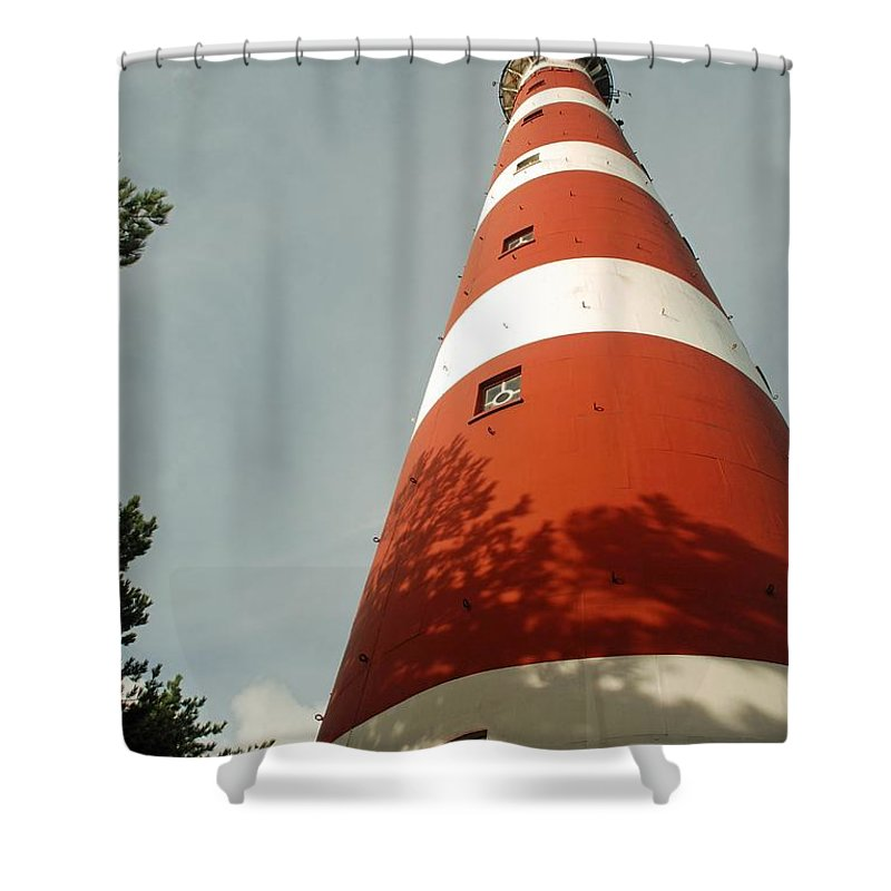 Lighthouse Shower Curtain featuring the photograph Lighthouse by FL collection