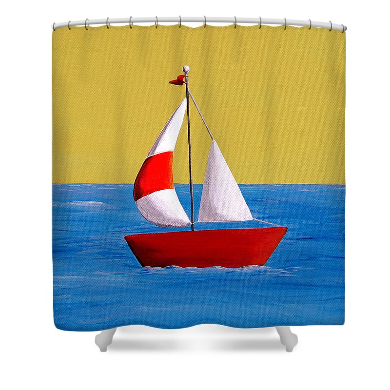 Lil Sailboat Shower Curtain For Sale By Cindy Thornton