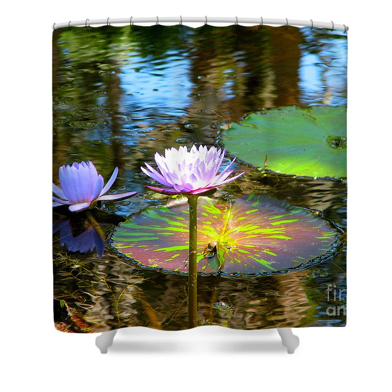 Pink Shower Curtain featuring the photograph Lily Pond by Anita Lewis