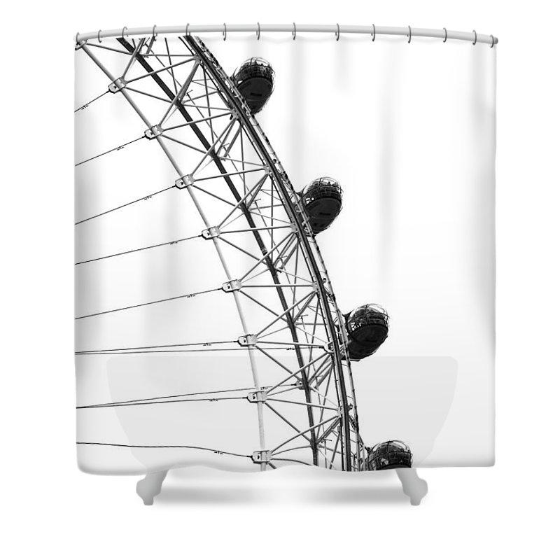 London Eye Shower Curtain featuring the photograph London Eye by Chevy Fleet