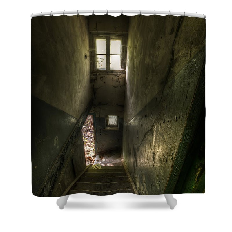 Germany Shower Curtain featuring the digital art Looking Down by Nathan Wright